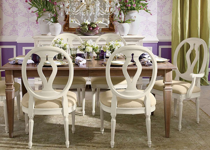 Round Back Dining Room Furniture Wooden Dining Chair