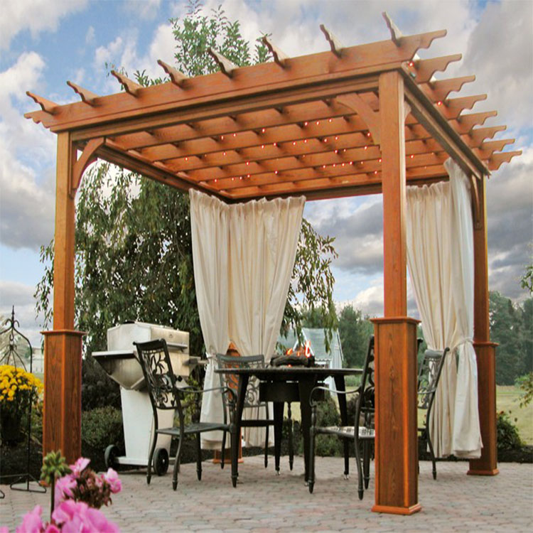 easy to build homemade decorated wood pergolas