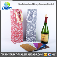 New customized luxury wine paper bag with CE certificate