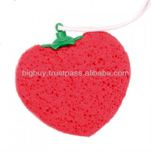 Massaging Heart Shaped Sponge with Vibrator