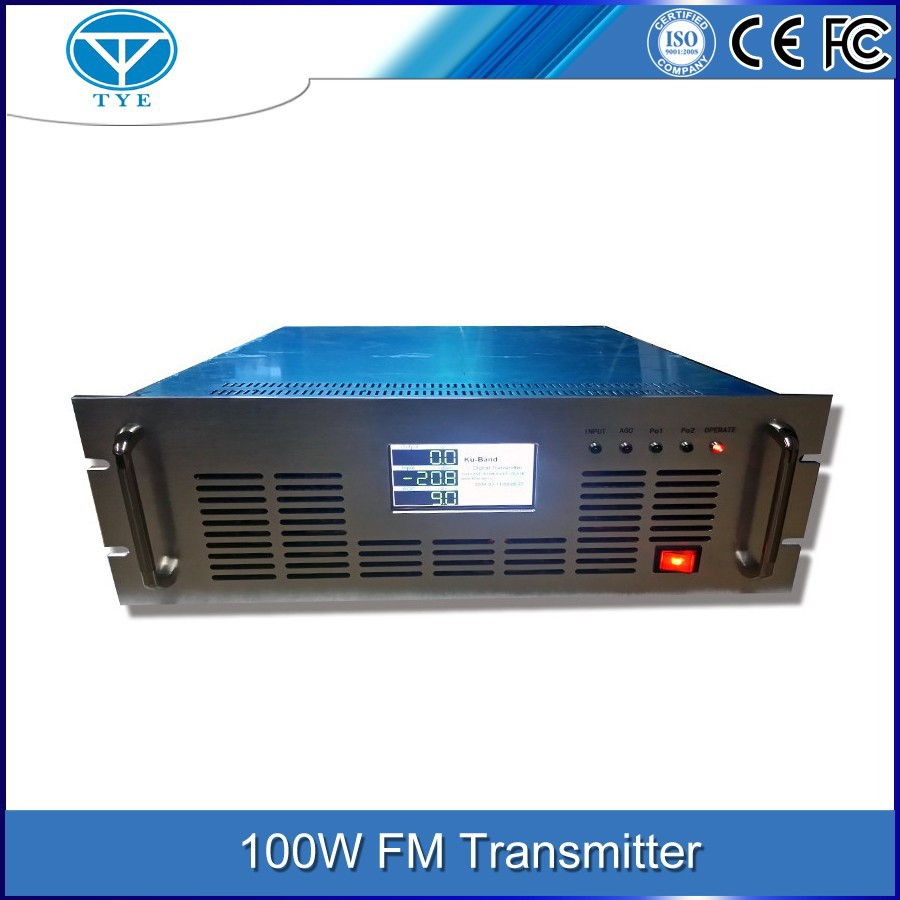 TY-1010 100w FM indoor transmission equipment broadcast radio station stereo digital signal transmitter