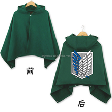 Fashion Green Cosplay Cloak Attack on Titan Marks Anime Costume