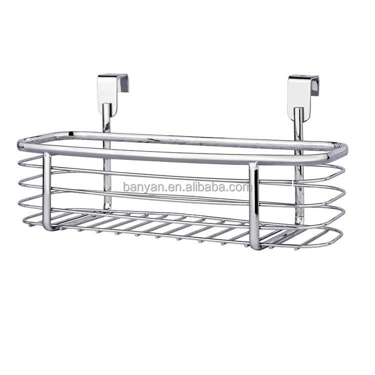 Single layer Rectangle wire hanging over the cabinet basket for kitchen