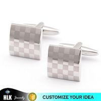 Fashion Men Accessories Grid Square Silver