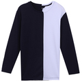 New Design For men T-shirt autumn Casual long sleeve O Neck skin care products Patchwork Contrast Color Panel block T-shirt