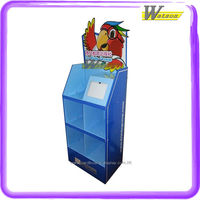 promotion display for mini ipad and books cardboard compartment display rack
