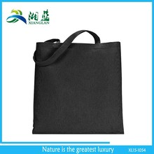 Eco friendly blank black cotton canvas tote bag