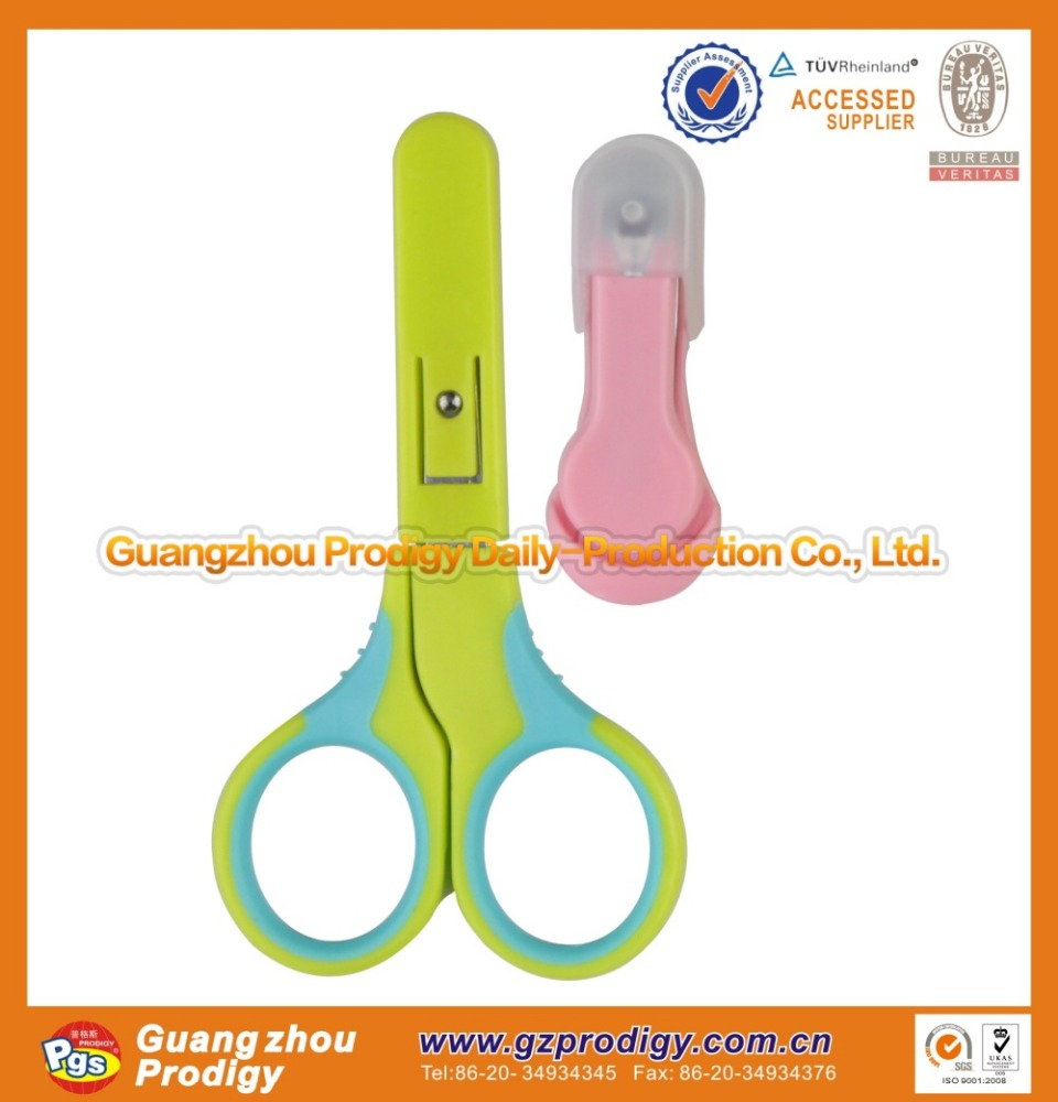 Baby safety hair cutting scissors with cover EN71 sertifications