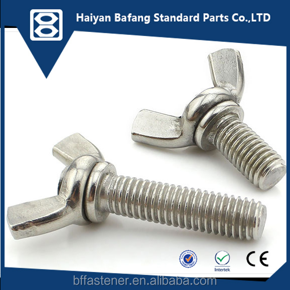Fasteners manufacturing wing nut tightener bolts