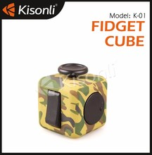 Keychain Fun 6 Sided Fidget Cube Dice Anxiety Stress Relief Toy