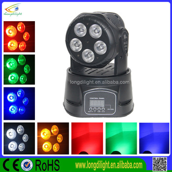 GuangZhou factory led moving head/ 7*10W 4in1 LED mini moving head wash light