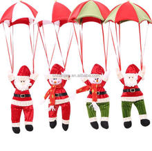 Yiwu Felt Christmas Decoration Parachute Santa Christmas Decoration Hanging Santa