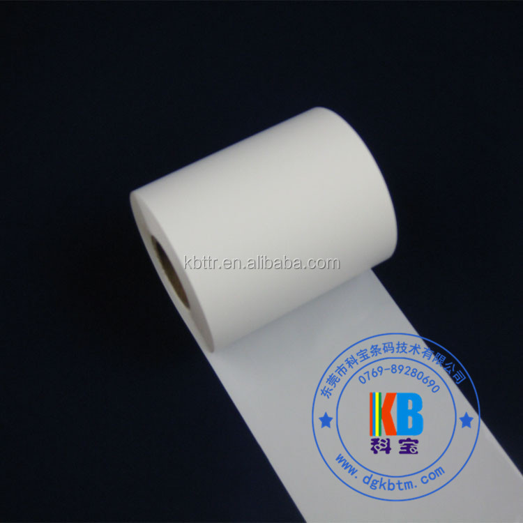 White TTR color ribbon resin printer ribbon for lamination holographic film printing