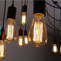 2017 Edison bulb lamp light ST64 - E27 Squirrel Cage Filament light bulb - DIY BULB LIGHT