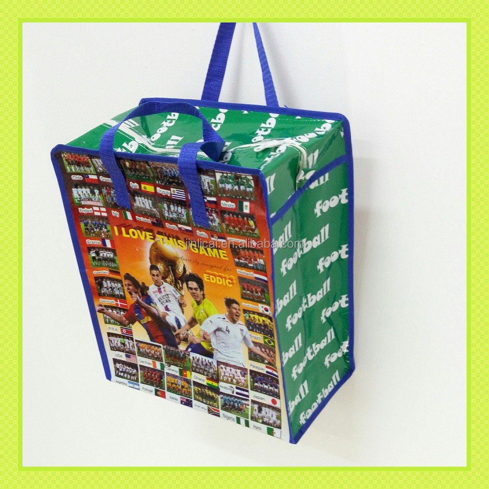 pp woven promotion tote bag for football sport world cup