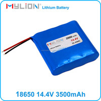 Rechargeable Lithium Battery Pack for Medical Equipment 18650 14.4V 3500mah From China Factory