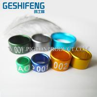 pigeon ring factory geshifeng factory blue aluminium bird rings famous brand in China