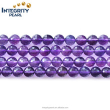 6mm 8mm 10mm high quality faceted wholesale synthetic amethyst