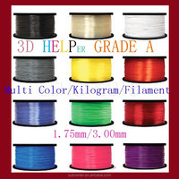 Top quality low price 1.75mm 1kg plastic 3d printer filament