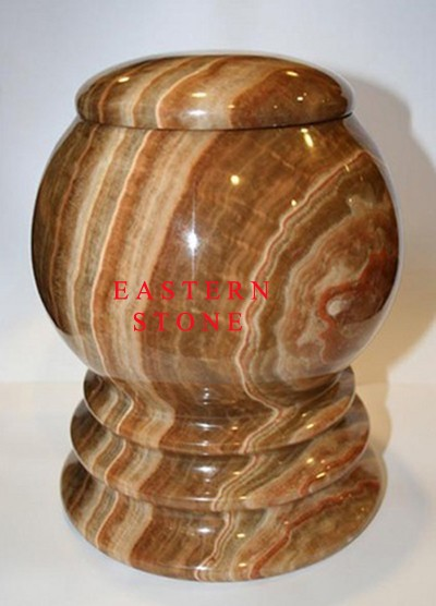 ONYX ASH CONTAINER, MARBLE ASH JAR, FOSSIL STONE ASH URN