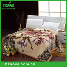 High Quality Cotton Reactive Printed Embroidery Blanket Anti-Pilling Blanket