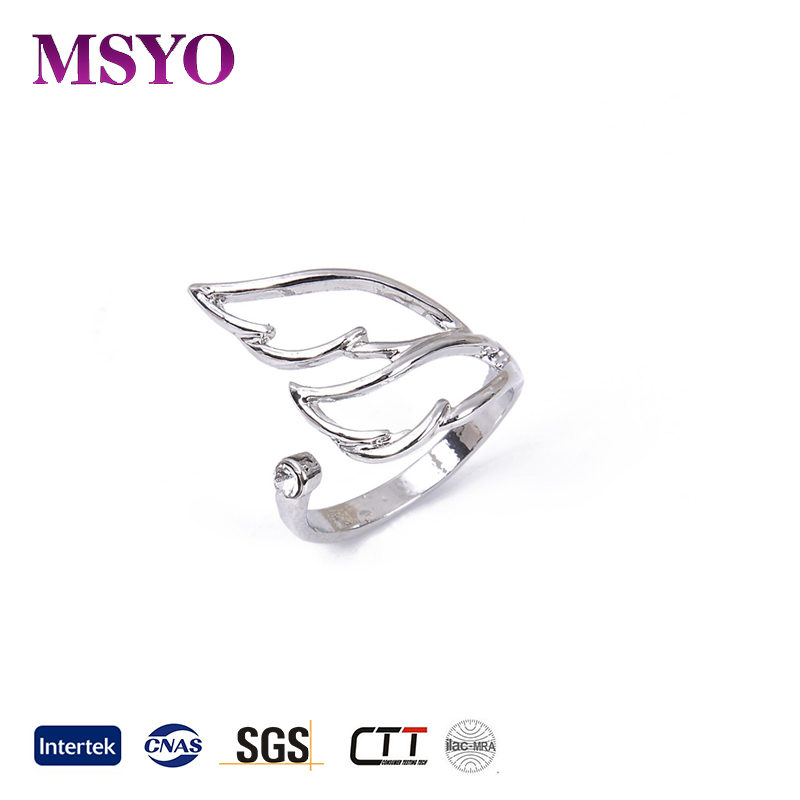 MSYO brand Europe and America smart ring hotsale open mouth silver ring
