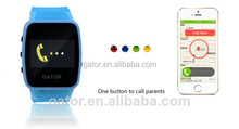 Selling in Wal-Mart Caref watch for kid the world smallest waterproof gps watch tracker