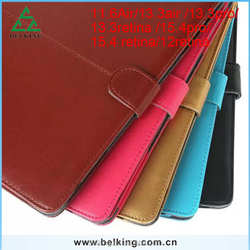 For Macbook Leather Case With Buckle Drop Resistance Case For Macbook 11'' 13'' 15''