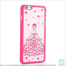 2016 China romantic printed wedding dress cases cover for iPhone 6 plus ,Plastic Hard Cell Phone Case for iPhone 6 Plus