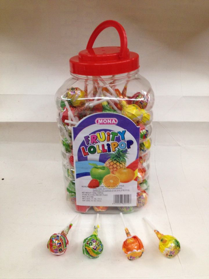 Funny fruity shape colorful confectionery sweet hard lollipop candy