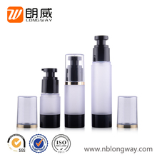 screw type small plastic AS pump spray black airless plastic cosmetic bottle