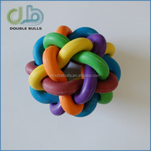 Custom Rubber Interwoven Ball for dogs or cats / Colorful Rubber pets Toys for Dog chewing