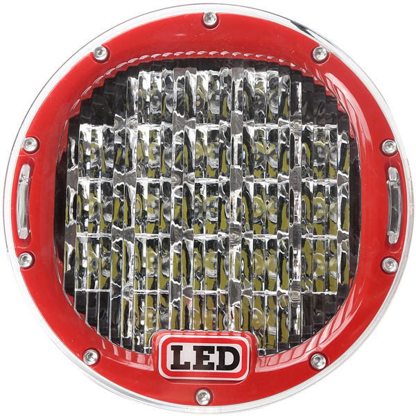 Factory price 63w great white crees auto led work light,led driving lights round 7 inch for off road
