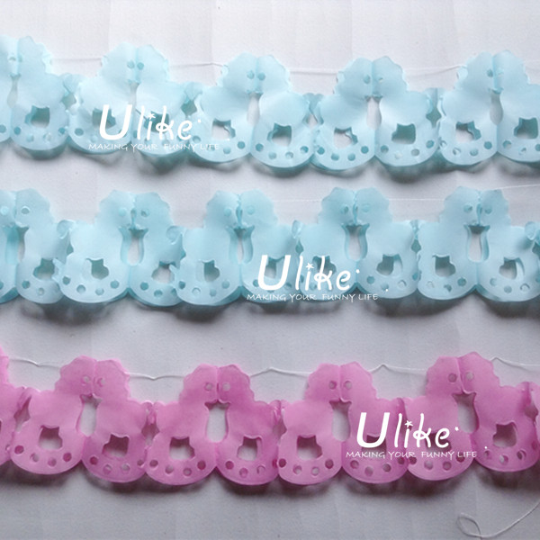 New Baby shower party garland paper decoration tissue bear honeycomb paper garland