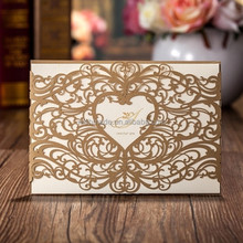 Wholesale love theme Laser Cut wedding greeting invitation handmade cards