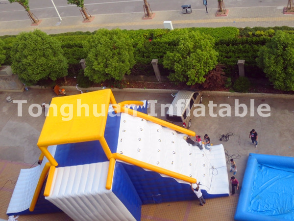 2016 inflatable floating water park slide