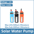 12v 24v dc 6LPM submersible pump/solar borehole water pumps
