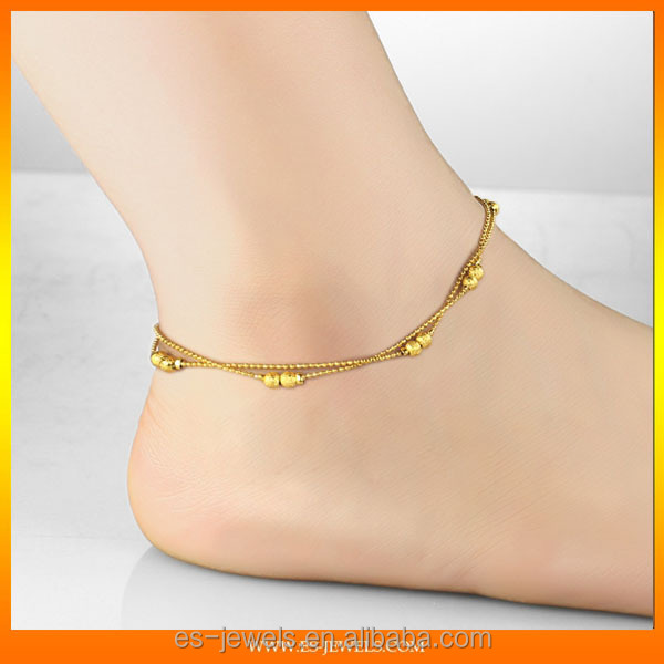 gold anklets women accessories exporter