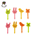 35mm Food Grade Cute Animal Shaped Food Picks Bento Picks Fruit Forks