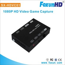 hot sale foxun hd video game capture recorder Support Full HD 1080P