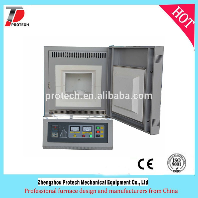 High temperature 1400 ceramic 400*400*400 muffle furnace with sic heating elements