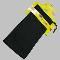 Black Customized Microfiber Glasses Pouches