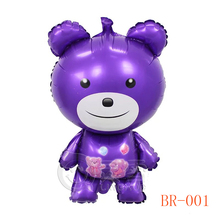 Wholesale 2016 cartoon party happy bear shape aluminium foil balloon