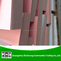 Uncoated pink color paper board with white back