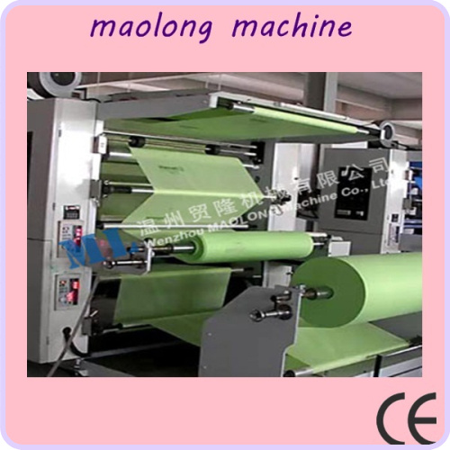 easy to operate high quality two colors plastic film roll to roll flexographic printing machine