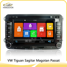 dvd auto 2din double din car radio player for vw passat b6 support bluetooth tv mp3