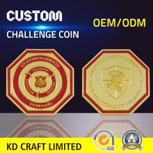 Wholesale china custom diamond shaped metal gold coating promotion coin with pvc pouch