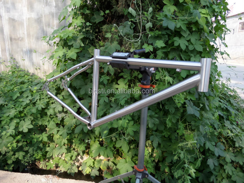 Best seller gold and rainbow ti mtb bike frame