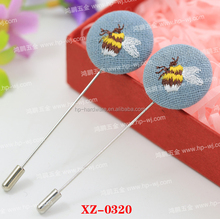 Funny design for clothing decoration cute bee brooch