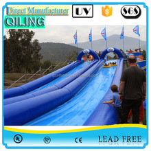 2016 Wholesale super long Inflatable water slide the city crazy slip n slide for water game,city slip slide for sale